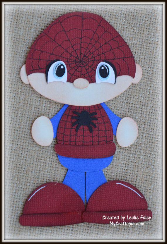 Hombre araña Super héroe Premade Scrapbooking por MyCraftopia