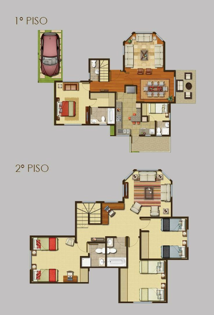 49 best images about planos on pinterest house plans for Planos para casas de dos pisos