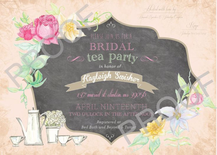 Bridal Shower Baby shower vintage Tea party garden by lulime44, $12.00