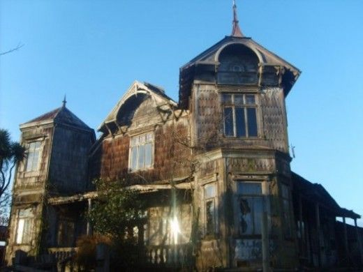 Historical wooden house built by European pioneers in Osorno, Chile. It is being restored!