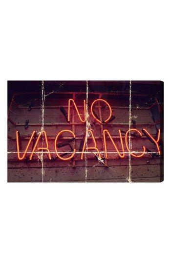 Oliver Gal 'No Vacancy' Wall Art