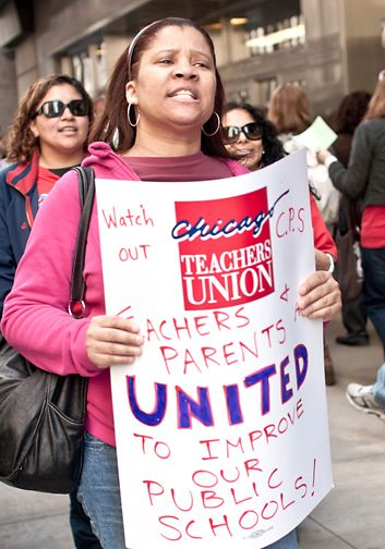 GRAY: @SocialistWorker #CPS #TeacherStrike This article is talking about the teachers' strike on the Chicago Public School system. The teachers were striking to highlight the racial and social injustices that are taking place in the Chicago school systems. The news used Senate Bill 7, to spin the strike as one for wages and job security, but they are actually striking for much larger injustices. #NonViolent #DirectAction #FightForEquality