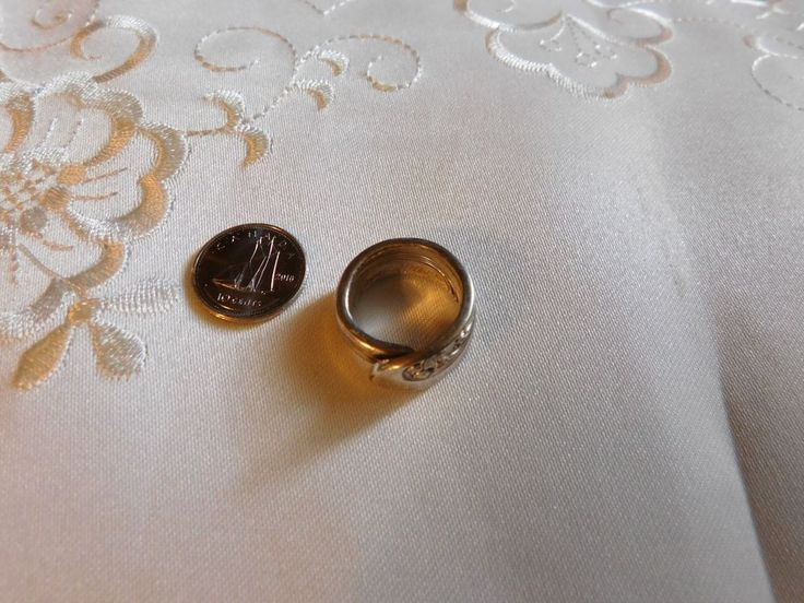 Vintage sterling silver spoon ring 9 gms. | eBay