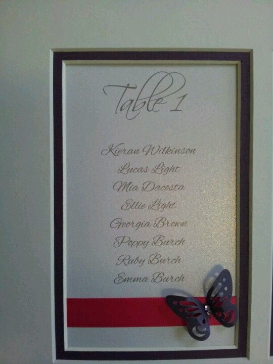 Close up of double mount #tableplan #wedding www.facebook.com/thatspecialdaystationery £50