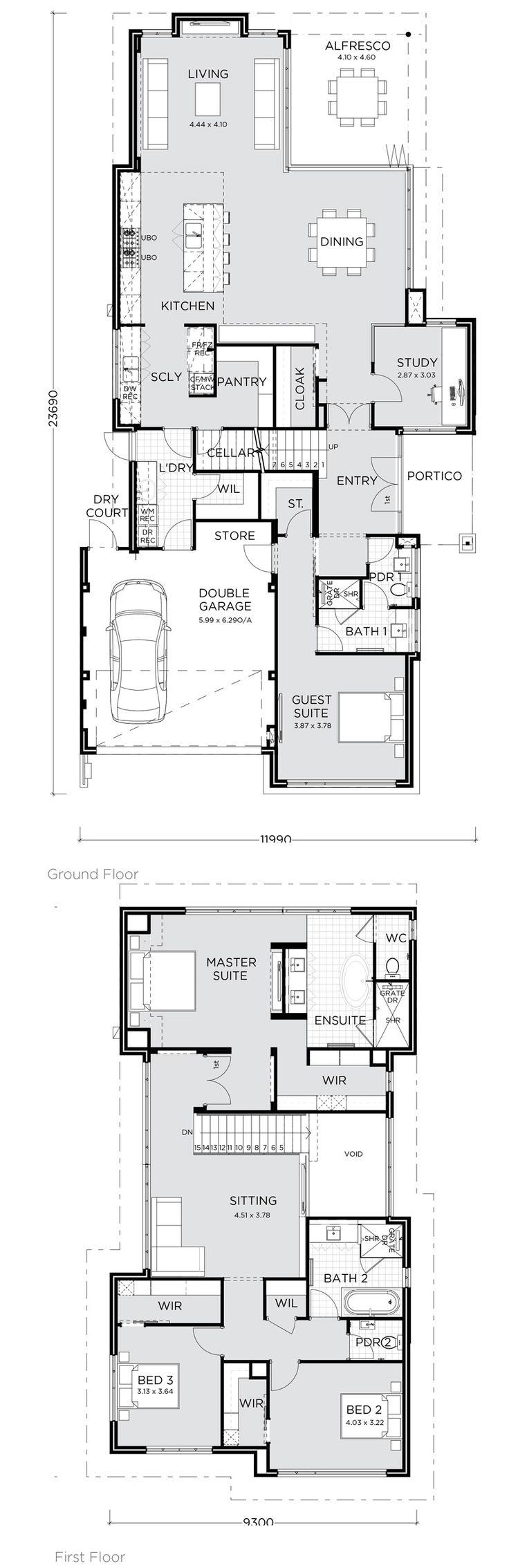 755 best decor house plans images on pinterest floor plans house