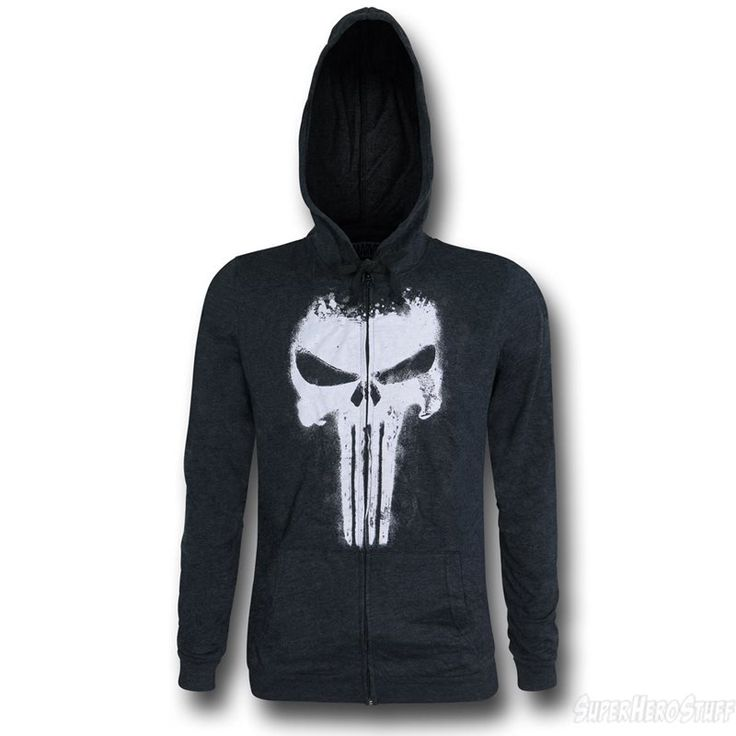 Images of Punisher Symbol Factory Second Men's Zipper Hoodie