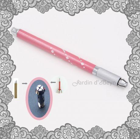 NOUVEAUTE: Cet outils peut également accueillir des micro-aiguilles Faisceau Rond 3 et faisceau Rond 5, pour tattoo sourcils & lèvres et toutes aiguilles universelle pour contours, ombrage et remplissage!