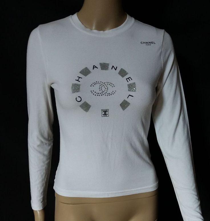 #twitter#tumbrl#instagram#avito#ebay#yandex#facebook #whatsapp#google#fashion#icq#skype#dailymail#avito.ru#nytimes #i_love_ny #cnn # BBCBreaking #  BBCWorld #  cnnbrk # nytimes # globaltimesnews #     Vintage Chanel White Sweatshirt Glittering Emblem #CHANEL #GraphicTee
