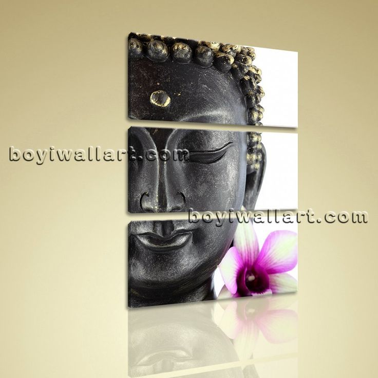 """Large Feng Shui Buddha Canvas Contemporary Wall Art Print Vertical Entrance Extra Large Wall Art, Gallery Wrapped, by Bo Yi Gallery 32""""x50"""". Large Feng Shui Buddha Canvas Contemporary Wall Art Print Vertical Entrance Subject : Buddha Style : Contemporary Panels : 3 Detail Size : 32""""x16""""x3 Overall Size : 32""""x50"""" = 81cm x 127cm Medium : Giclee Print On Canvas Condition : Brand New Frames : Gallery wrapped [FEATURES] Lightweight and easy to hang. High revolution giclee artwork/photograph…"""