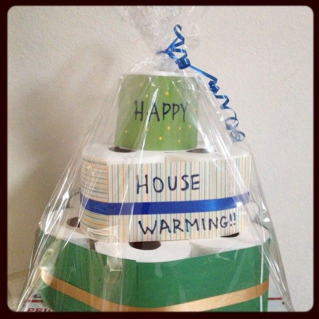 20 Creative Housewarming Gifts Your Friends Could Actually Use, including a Toilet Paper Cake!