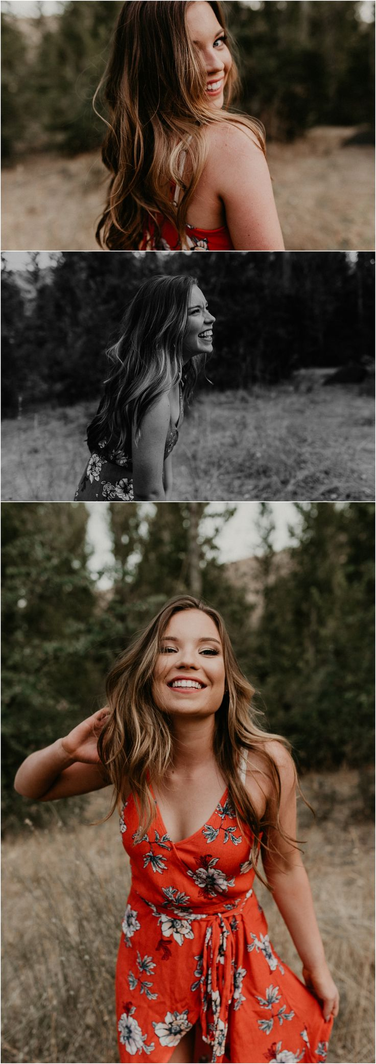 Makayla Madden Photography // Boise Senior Photographer // Fall Senior Pictures // Floral Dress // Dancing // Laughter // Senior Photography // Senior Girl // Posing Ideas // Summer Senior Pictures //