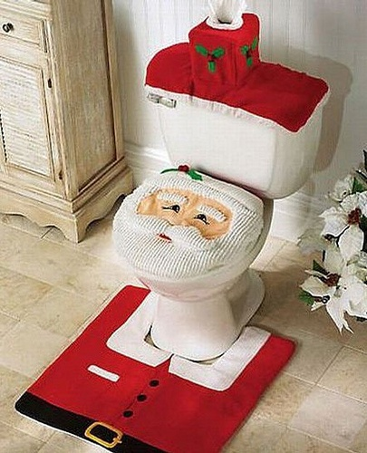 Not how Santa expected to get his milk and cookies....I am sorry but this is sooooo red neck decorating to me...or is this a joke?