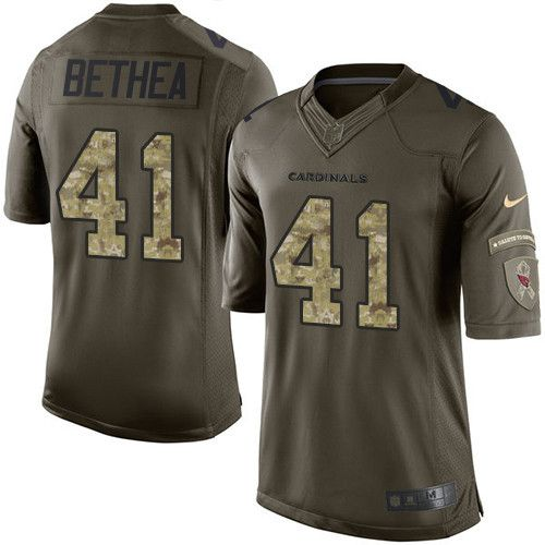 $24.99 Youth Nike Arizona Cardinals #41 Antoine Bethea Limited Green Salute to Service NFL Jersey