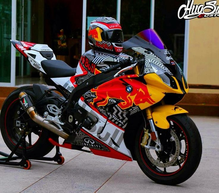 Bmw S1000rr Red Bull By Hug Sticker Race Motorcycle