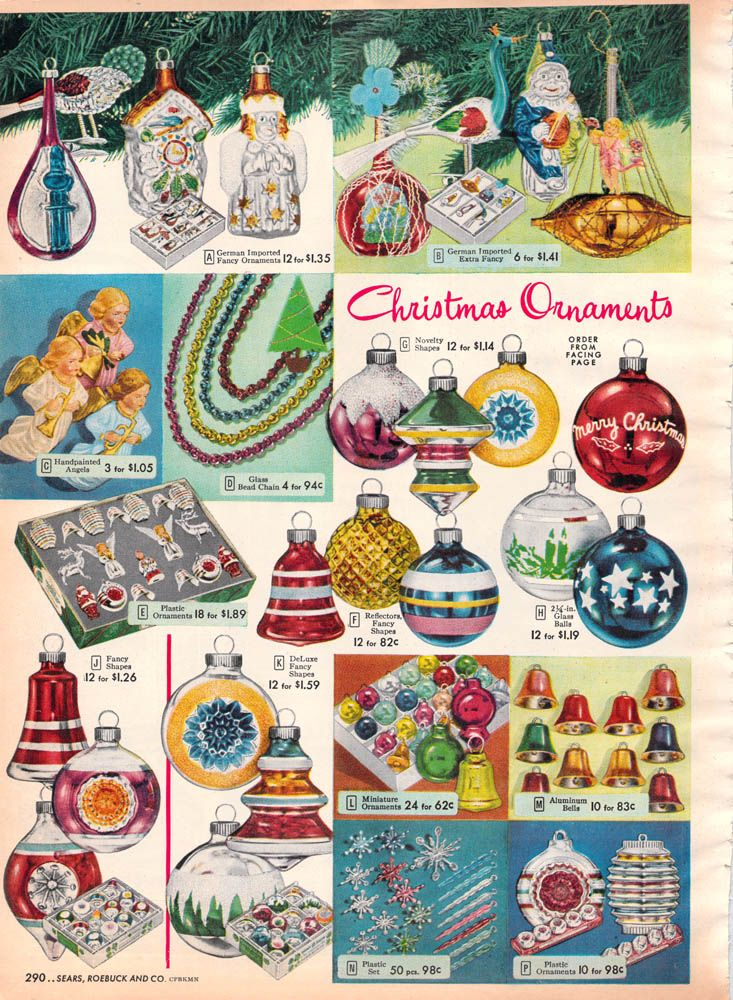 1952 Sears Christmas - Deck the halls. Some of the Christmas decorations I grew up with are on this page.
