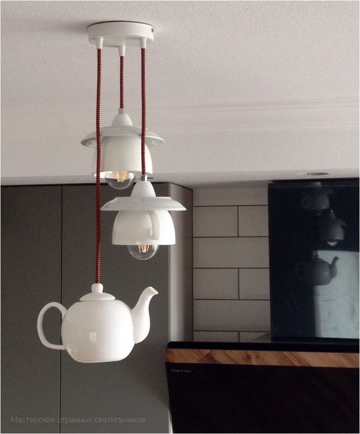Kitchen lighting in form of tea cups & a teapot | …