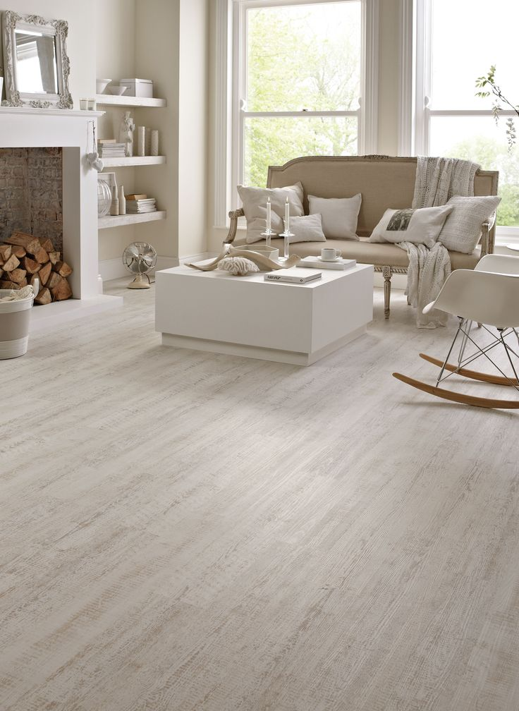 Karndean wood flooring white painted oak by for White kitchen vinyl floor
