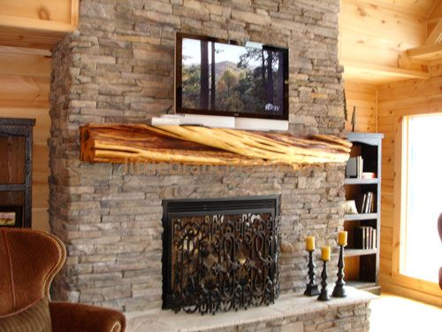 1000 images about fireplace mantels on pinterest rustic for Rustic mantels for stone fireplaces