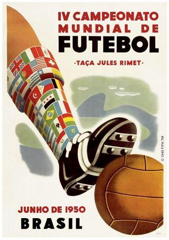 Poster Copa del Mundo Brasil 1950