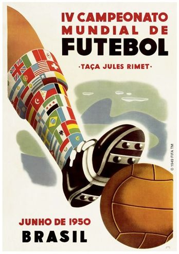 Brazil 1950  World Cup Poster