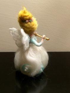 Angel de fieltro de la aguja Waldorf inspirado Ángel de la
