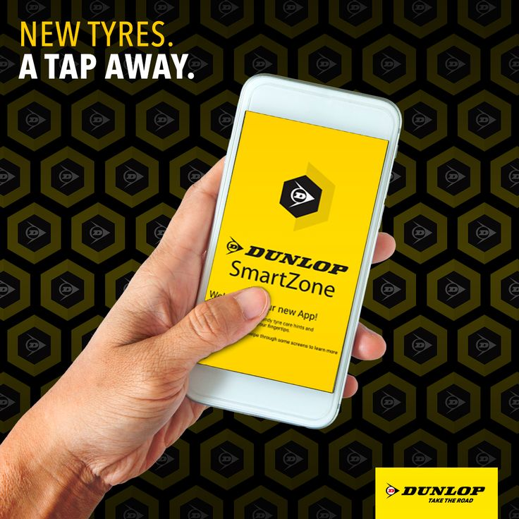 New tyres. A tap away. Download our easy-to-use Dunlop SmartZone App. Avaliable for Apple devices. http://apple.co/2rPgCNU