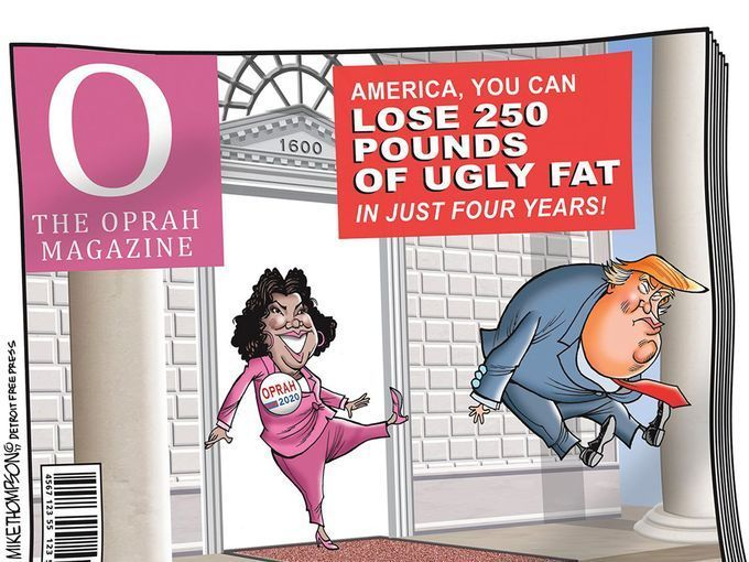 Image result for trump and oprah cartoons