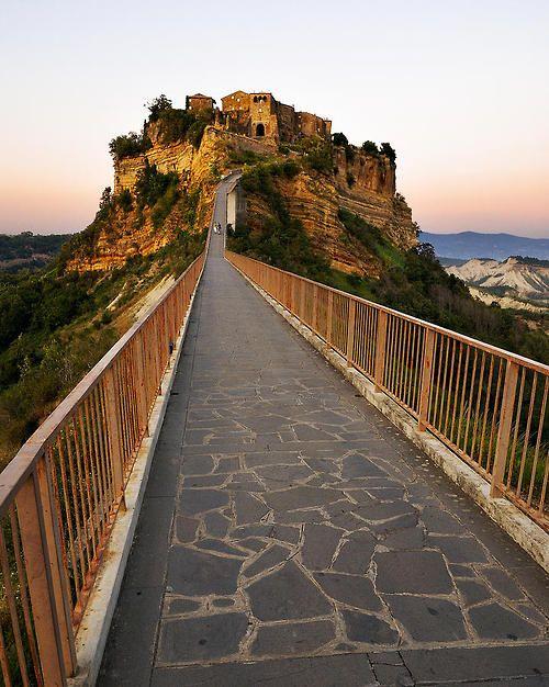 Foot Bridge, Civita Di Bagnoregio, Italy