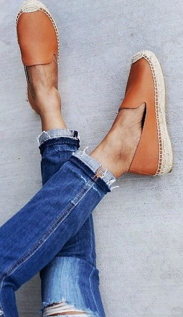 Spring Shoe Trends: Brown Espadrilles. Latest Shoes Ideas.