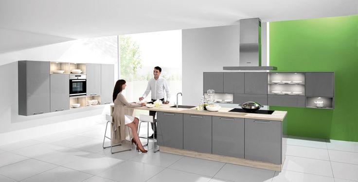 1060 PEARL GREY Kitchen Pinterest Pearl grey, Kitchen modern - alno küchen grifflos