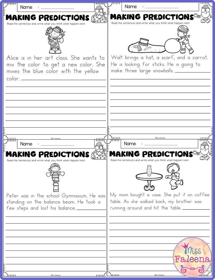 Free Making Predictions Making Predictions First Grade Worksheets Kindergarten Worksheets Predictions worksheets 1st grade