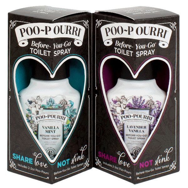 Poo-Pourri Share Love Not Stink Gift Set 2x 2oz Bottles - Bed Time Toys