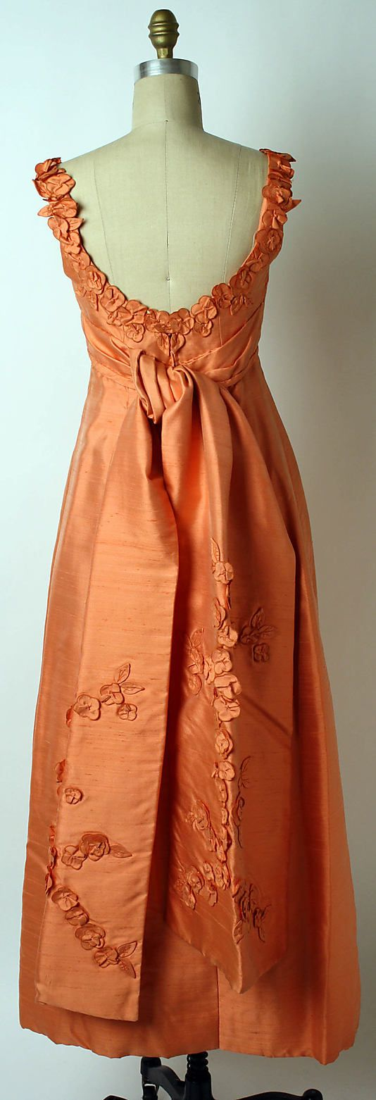 American Silk Evening dress back Designer: Ann Lowe  Department Store: Saks Fifth Avenue 1962–64