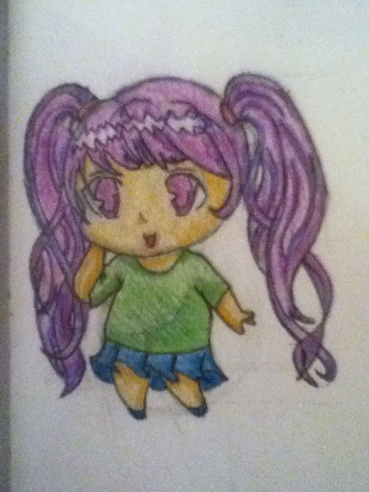 My first successful attempt at  drawing a chibi!