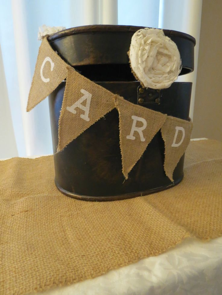 Rustic Card box for Rustic Gifts Table