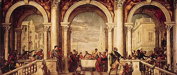 Véronèse,  i le Repas chez Lévi /i  Le Repas chez Lévi. Peinture à l huile (1573) de Véronèse. (Galleria dell Accademia, Venise.)