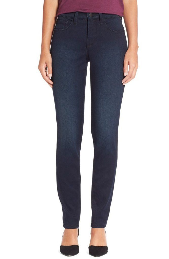 NYDJ's Alina petite jean is one of our best fitting jeans.  And, it's made with water conscious denim.
