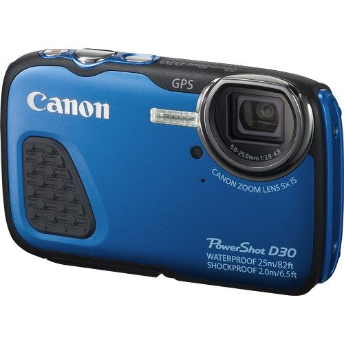 Canon - PowerShot D-30 12.1-Megapixel Waterproof Digital Camera.