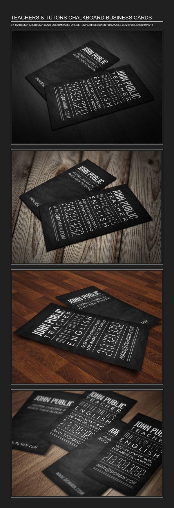 24 best Tutor Business Card Samples images on Pinterest | Card ...