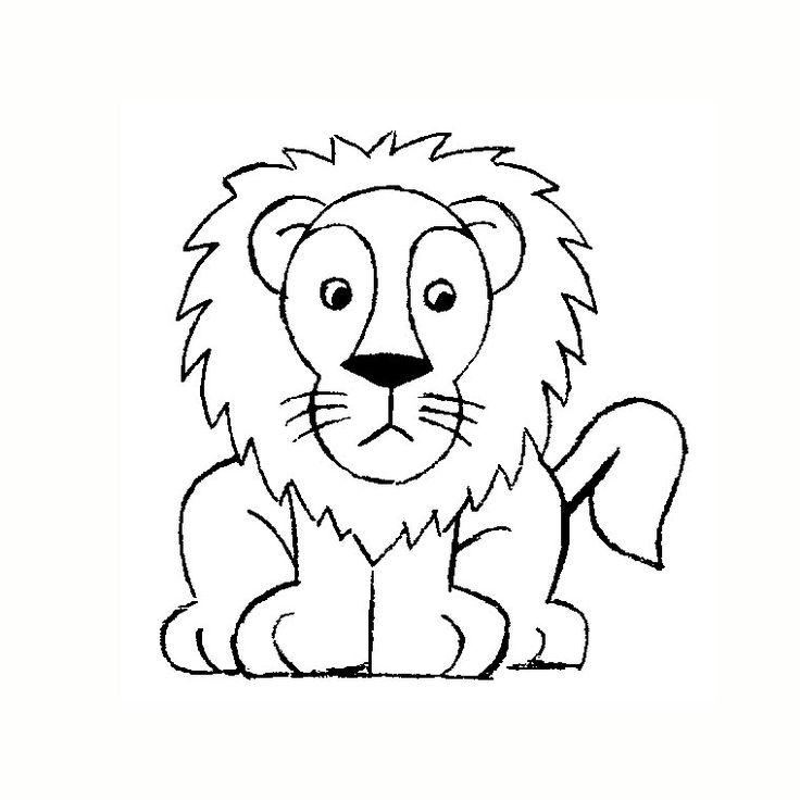 Les 8 meilleures images propos de dessin enfant sur pinterest animaux comment dessiner et - Comment dessiner un lion ...