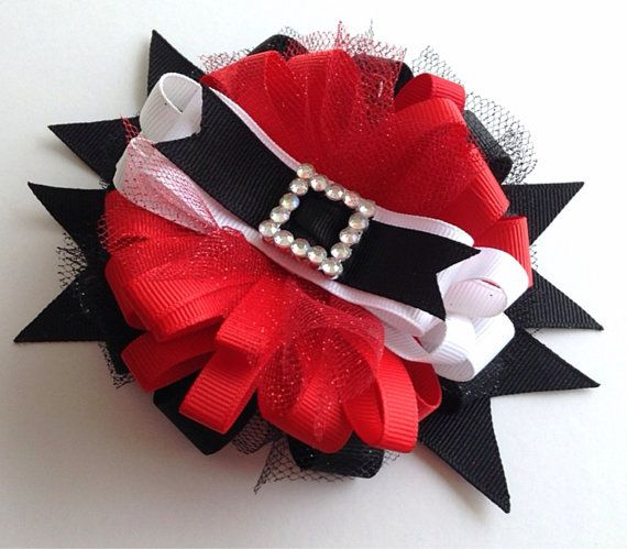 Christmas Hair Bow Santa Belt Buckle Hair Bow by CreateAlley, $11.99