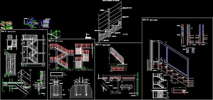 Stair Detail In Construction Details Stairways Dwg Autocad