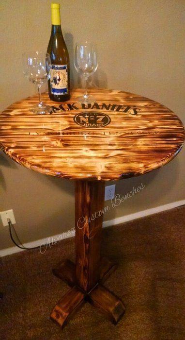 Jack Daniels Pub Table Woodworkingplans Diy Project Table
