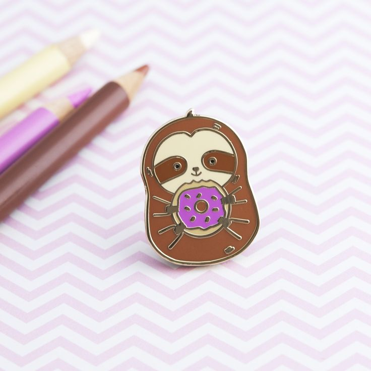 Sloth Pin - $9.99   See full adorable pin collection at kargow.com