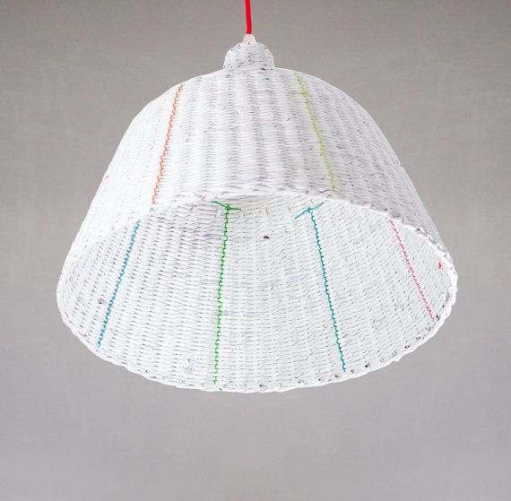 Industrial hanging eco paper lamp Minimal by BarborkaDesign