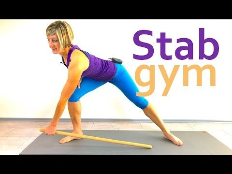 15 min. Funktionelle Gymnastik mit dem Stab - YouTube