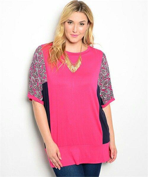 Plus size gorgeous soft top found at fashionpopboutique.com
