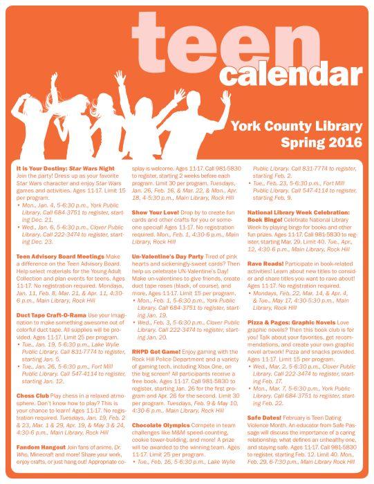12 best Library Calendar Pages images on Pinterest Calendar - event calendar