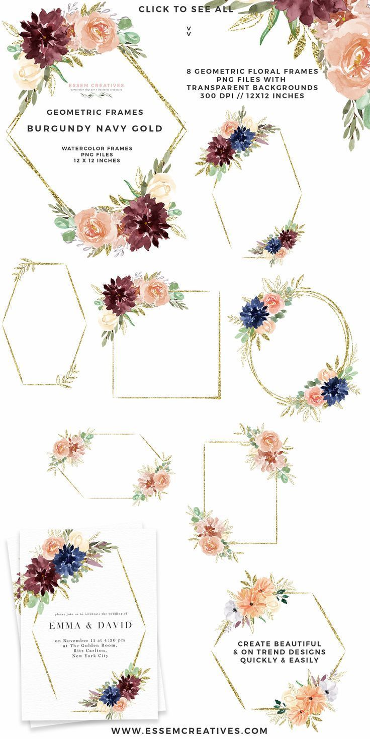 Floral Wreath Watercolor Simple