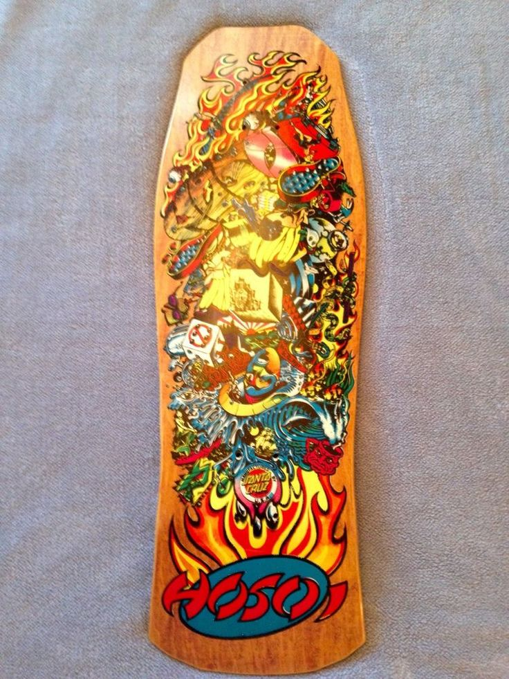 Awesome Hosoi Collage Skateboard Deck for sale on ebay....